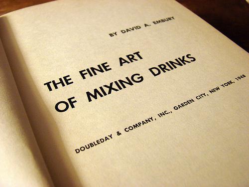 Fine art of mixing drinks