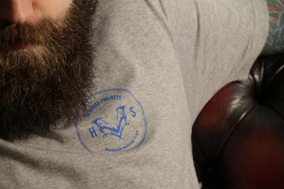 Grey Coin Logo Tee Close2