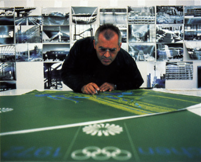 Otl Aicher designing for the 1972 Munich Olympics