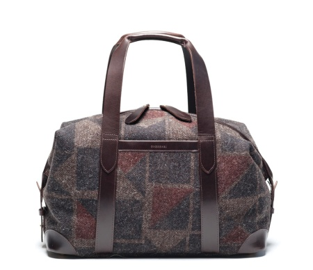 CHERCHBI-Squires-Medium-Holdall-in-Tamasyn-Gambell-Broken-Square-printed-Herdwyck-No-red-blue