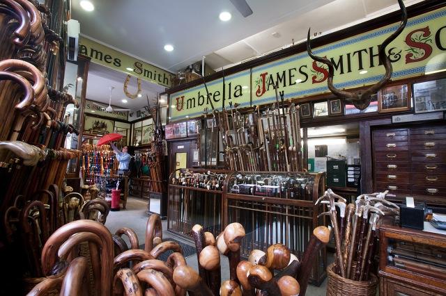 James Smith & Sons Umbrella shop, London, UK
