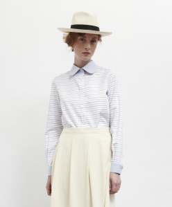 Striped Cotton Cleric Shirt