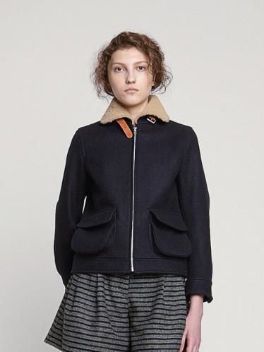 Melton Wool Flight Jacket