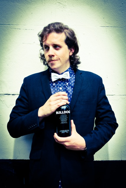 Lee with his Bulldog Gin Trophy